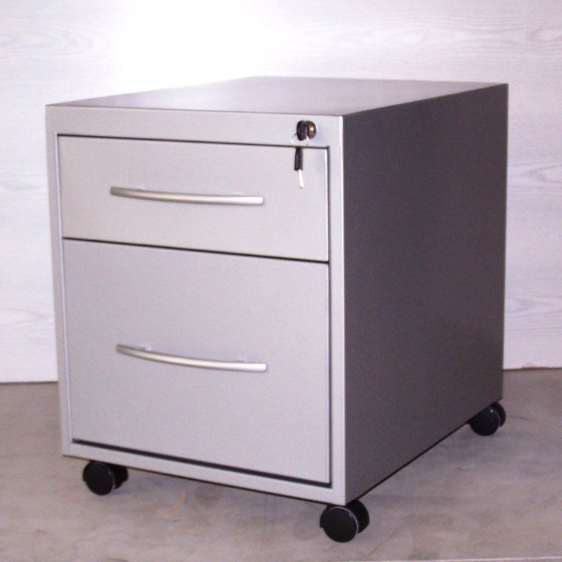 Buck metálico con un cajón y archivo GB572R BLANCO RAL9003