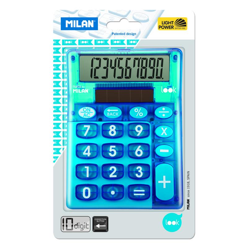 Calculadora de sobremesa de 10 dígitos Milan Look 159906LKBBL