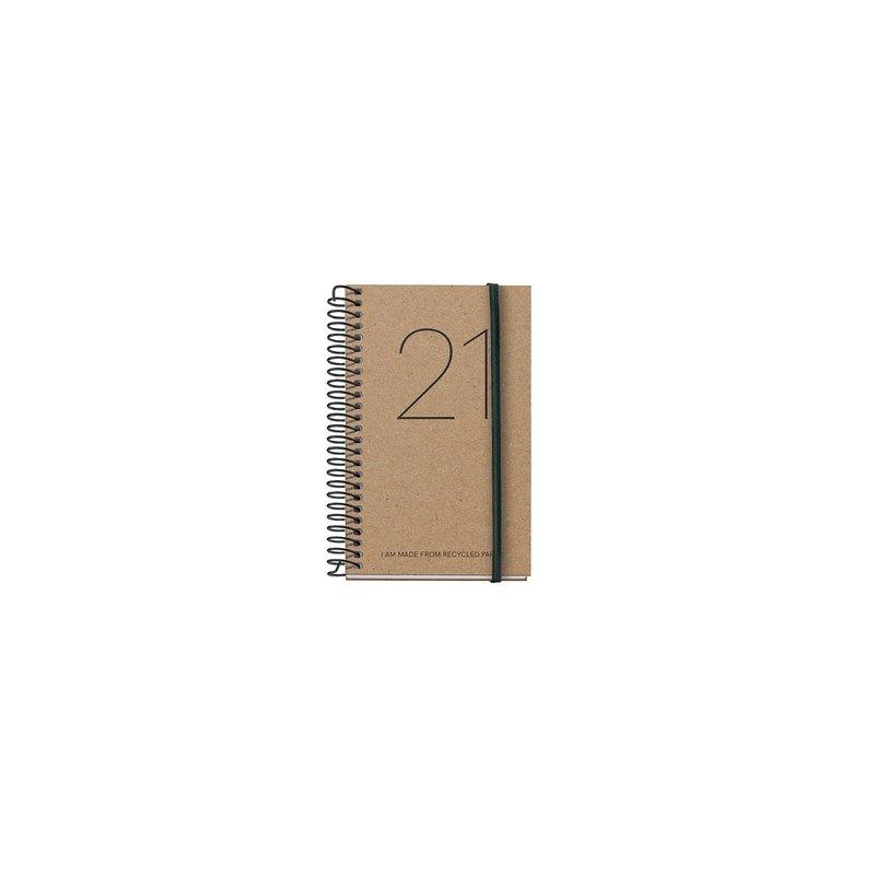 Agenda espiral Día página 2021 Recyled Year Caddy 8x12,5cm 39096