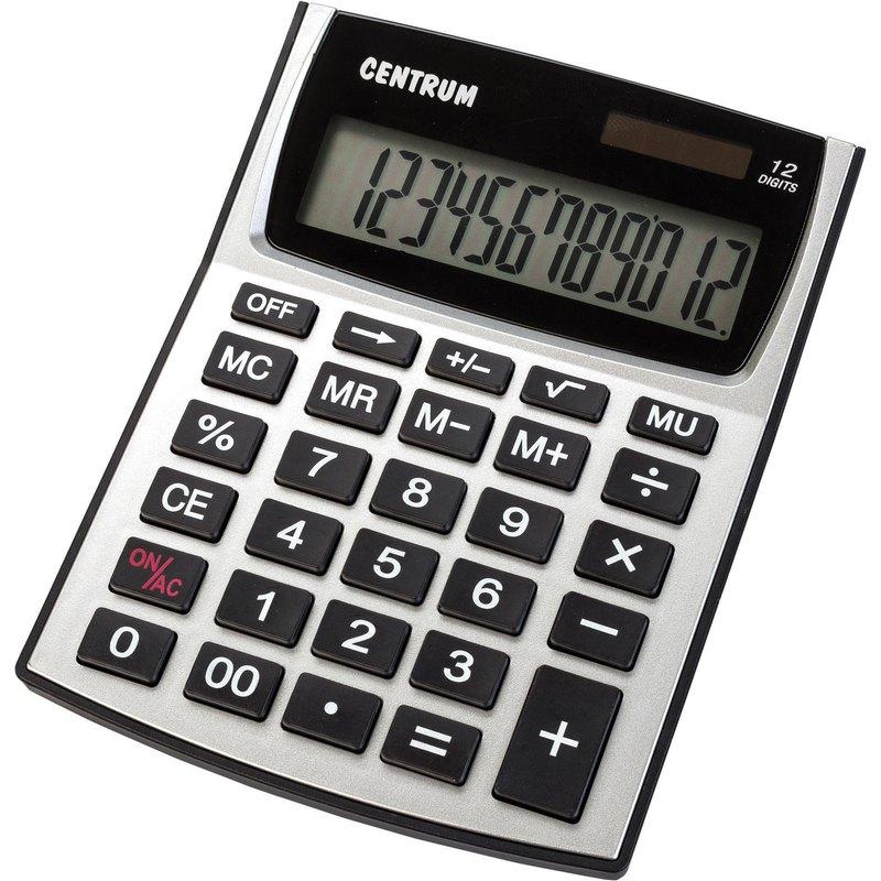 Calculadora solar y pilas 12 dígitos Centrum 83402