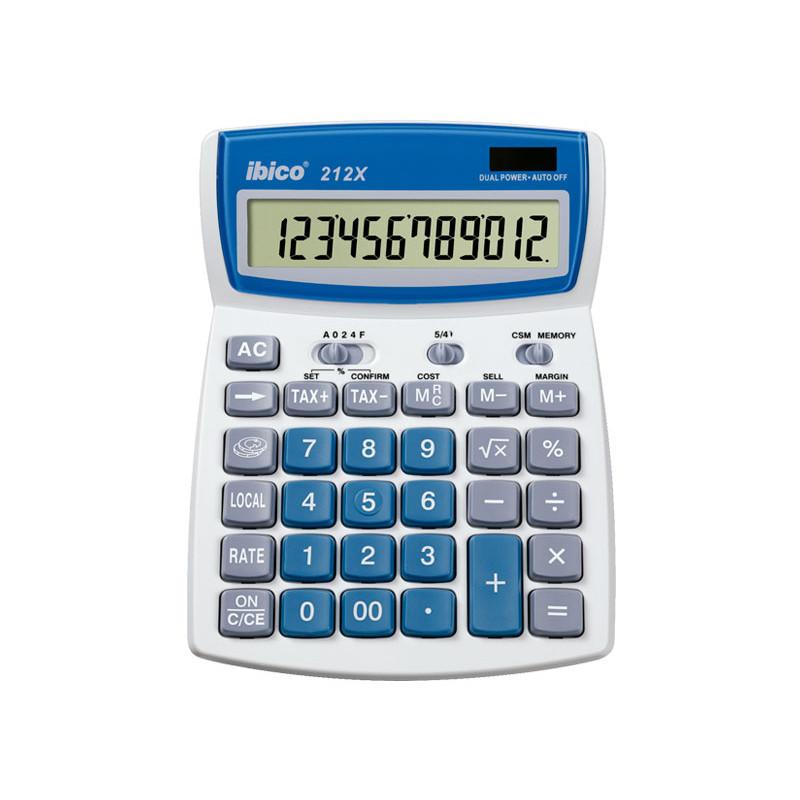 Calculadora sobremesa Ibico 12 digitos 212X IB410086