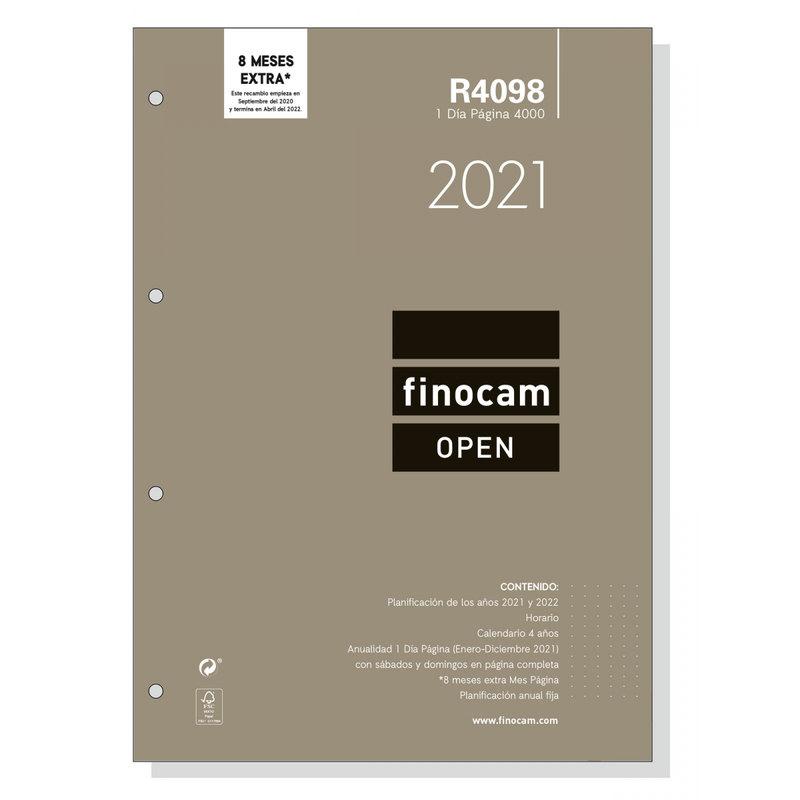 Recambio agenda anual día página 2021 Finocam Open 4000 R4098 711650021
