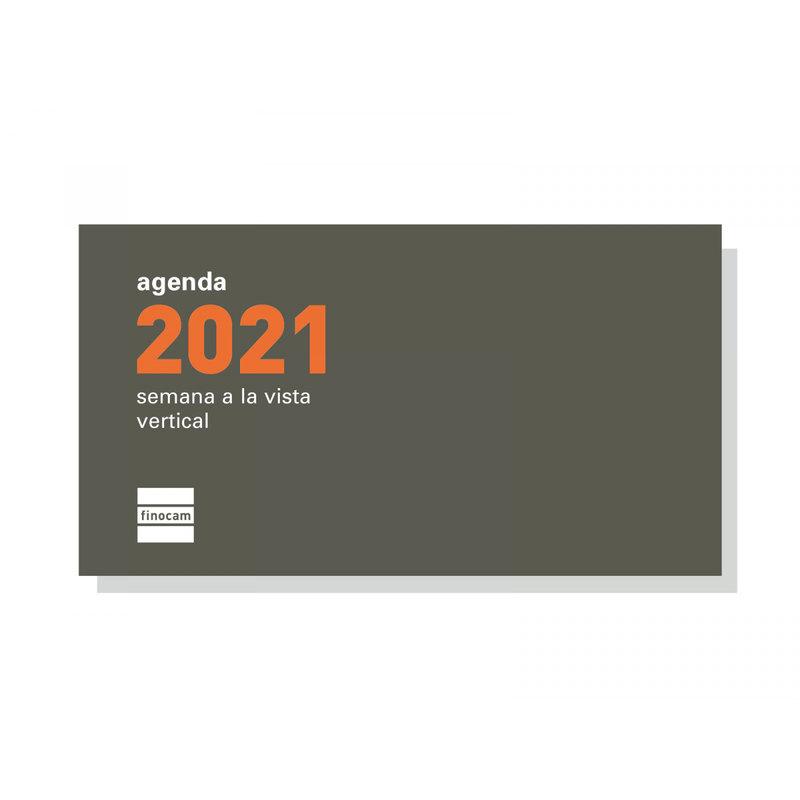Recambio agenda anual semana vista vertical 2021 Finocam P199 PL1 341410021