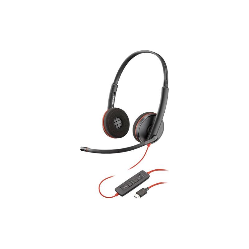 Plantronics Blackwire 3220 Auriculares con Micrófono USB C Estereo 209749-101