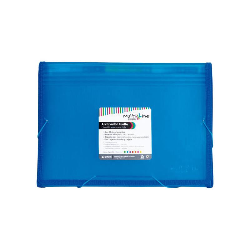 Carpeta clasificadora 13 separadores con fuelle folio Grafoplás Multiline 02963030