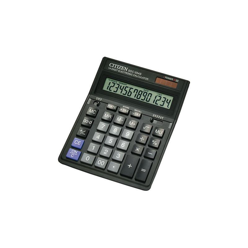 Calculadora de sobremesa 14 dígitos Citizen SDC-554S SDC-554S