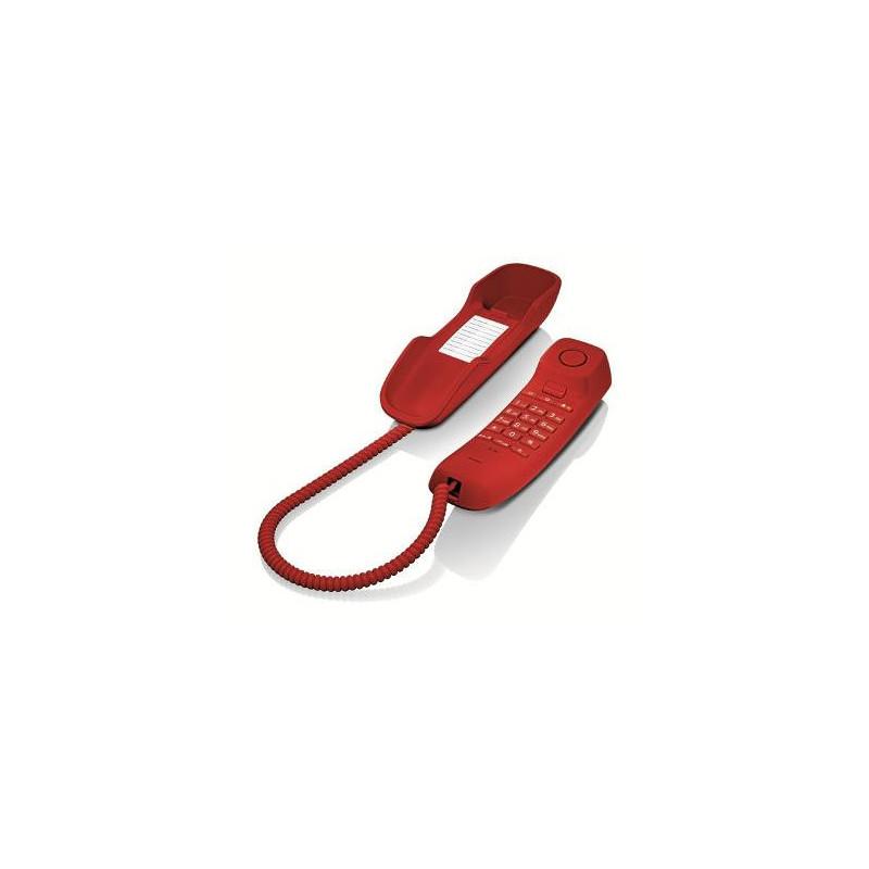 Telefono Fijo Gigaset Da210 Rojo S30054-S6527-R103