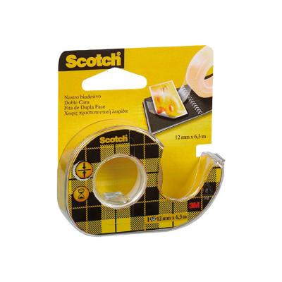 Cinta adhesiva de doble cara transparente con dispensador Scotch 136D