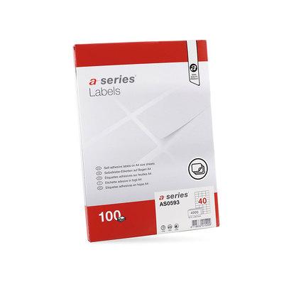 Etiquetas adhesivas A4 cantos rectos 100 hojas A-Series AS0654