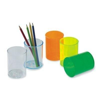 Cubilete portalápices de plástico fluorescente Faibo 205-18