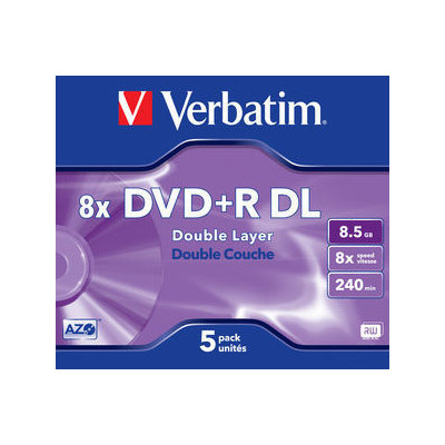 DVD + R de doble capa Matt Silver 8x Verbatim 43541