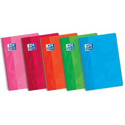 Cuaderno espiral tapa plástico folio cuadriculado 80 hojas Oxford Classic 400079664