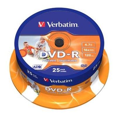 DVD-R grabable imprimible 4,7Gb Verbatim Printable 43538