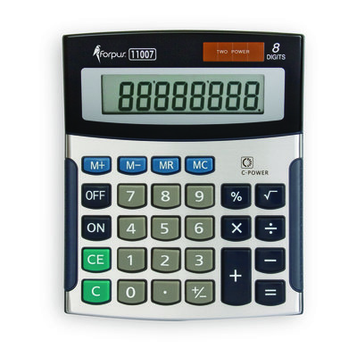 Calculadora de sobremesa 8 dígitos Forpus 11007 FO11007