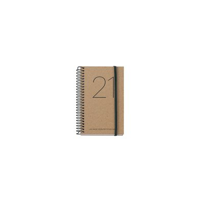 Agenda espiral Semana vista 2021 Recyled Year Caddy 8x12,5cm 39086