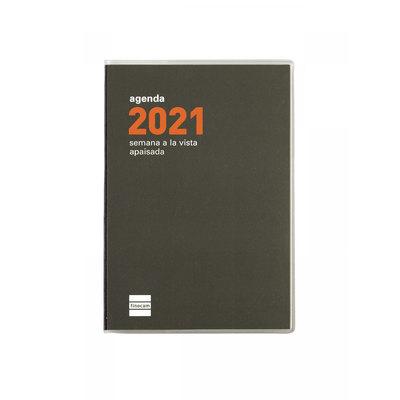 Agenda encuadernada de bolsillo semana vista 2021 Finocam Min PL3 8,2x12,7cm 331115021