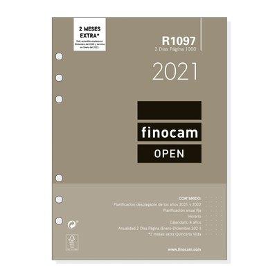Recambio agenda anual dos días página 2021 Finocam Open 1000 R1097 711610021
