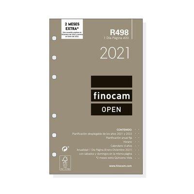 Recambio agenda anual día página 2021 Finocam Open 400 R498 711660021