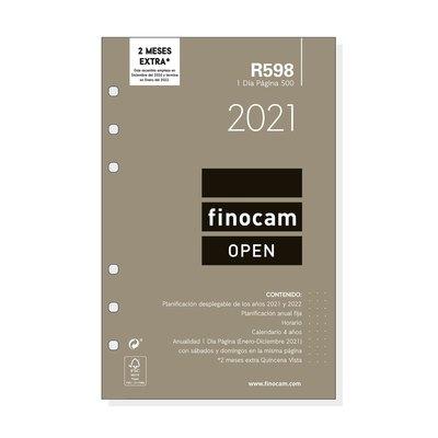 Recambio agenda anual día página 2021 Finocam Open 500 R598 711670021