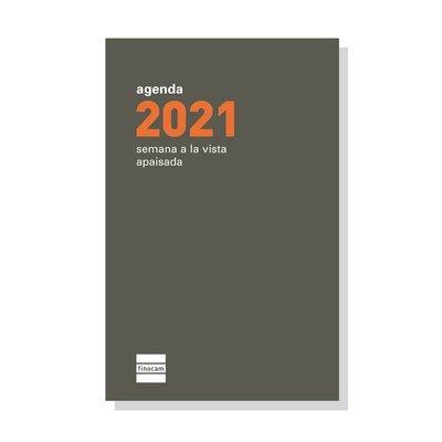 Recambio agenda anual de bolsillo semana vista apaisada 2021 Finocam P394 PL3 341630021
