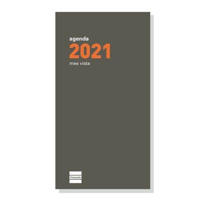 Recambio agenda de bolsillo anual Mes vista 2021 Finocam P497 PL4 341440021