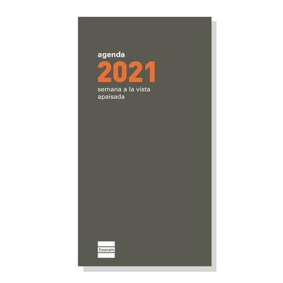 Recambio agenda de bolsillo anual semana vista apaisada 2021 Finocam P499 PL4 341140021