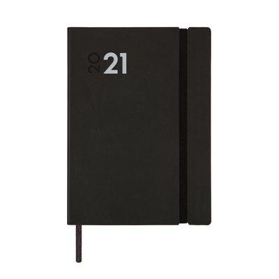 Agenda encuadernada Semana vista vertical 2021 Finocam Dynamic Mara Y4 12X17cm Negro 621106021