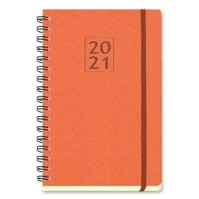 Agenda espiral Semana vista + notas 2021 Myrga Salerno Flexi 14,5x21cm Naranja  3302NA
