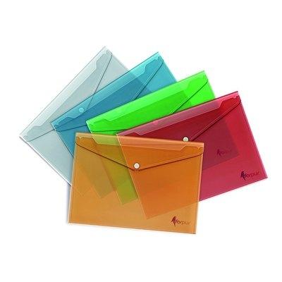 Sobre porta documentos plástico A4 con broche Forpus FO21611