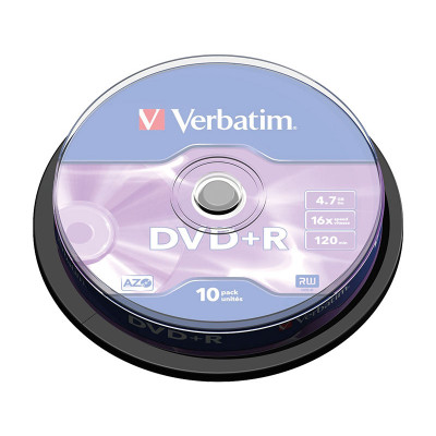 DVD+R grabable 4,7GB Verbatim Matt Silver 43498