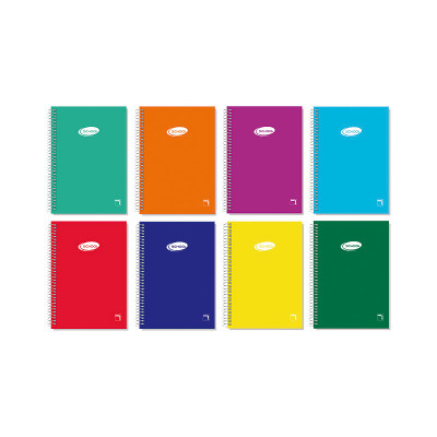 Cuaderno espiral tapa blanda 80 hojas Pacsa Basic 16422