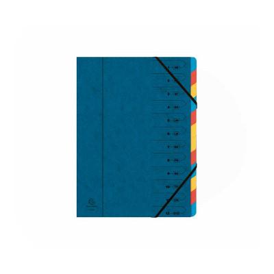 Carpeta clasificadora grapada con gomas y ventanas impresas Exacompta  54122E