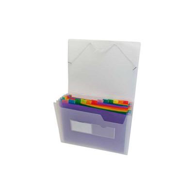 Carpeta clasificadora 13 separadores con fuelle folio multicolor Grafoplás 02961000
