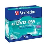 DVD-RW grabable 4,7Gb Verbatim Colour 43563