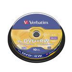 DVD+RW grabable 4,7GB Verbatim Matt Silver 43229