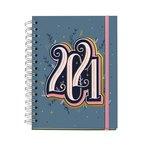 Agenda espiral Día página 2021 Happy Letters Plus Year 15,5x21,3cm  34714