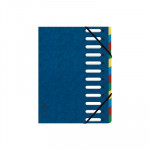 Carpeta clasificadora con gomas y ventanas troqueladas Exacompta Harmonika 55122E