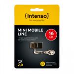 Usb 2.0 Intenso 16gb Mini Line Negro 3524470